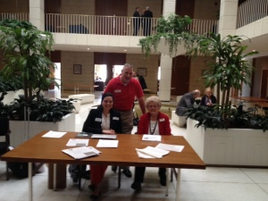 Kay Castillo, NASW-NC, Alan Winstead, Meals on Wheels of Wake County, and Mary Bethel from AARP