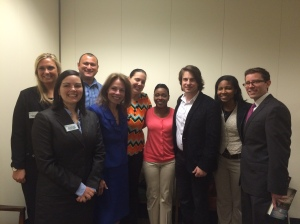 NASW-NC members and former youth in foster care meet with Jimmy Wayne.